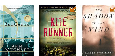 Bel Canto, Kite Runner, Shadow in the Wind